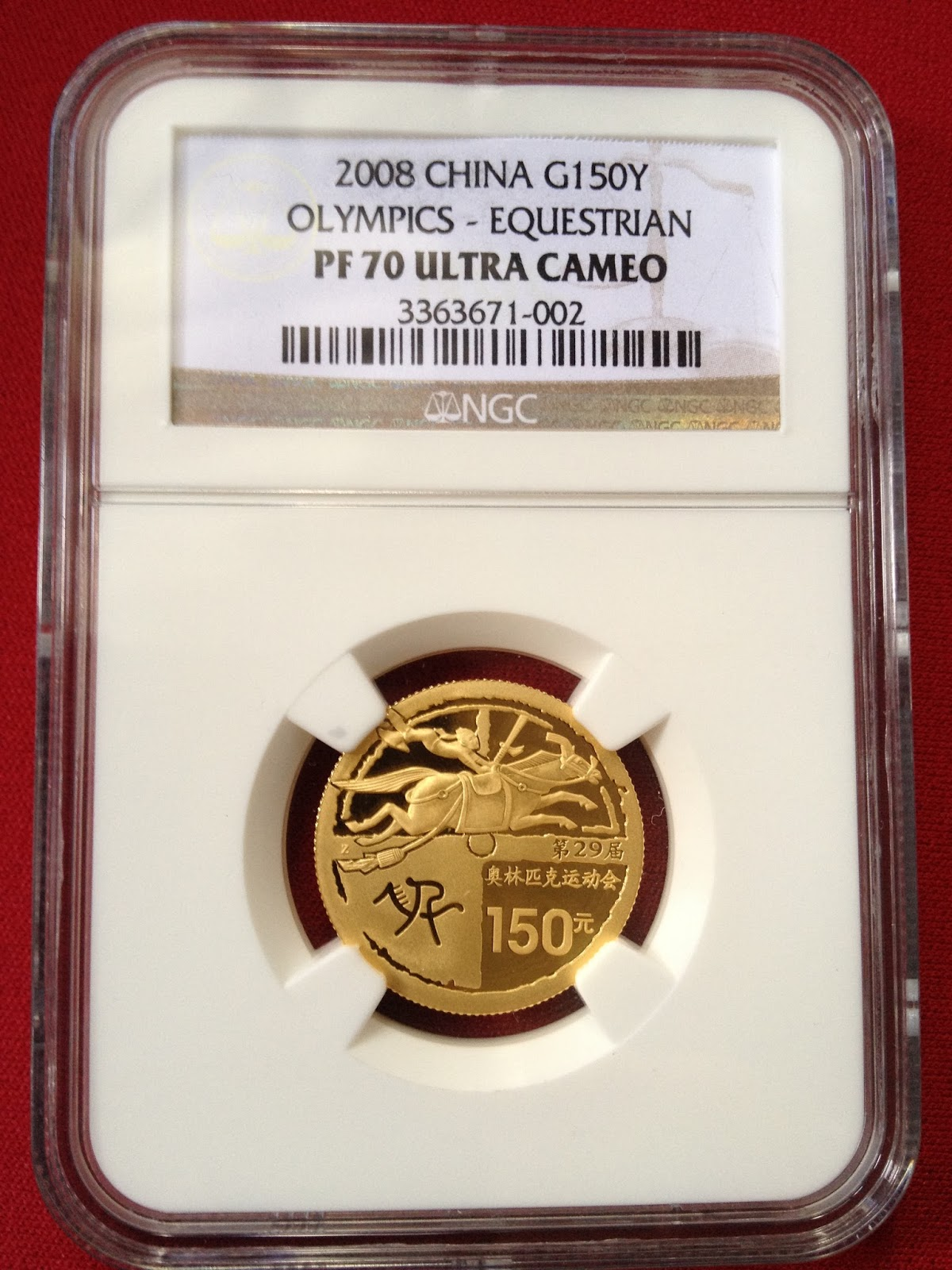 Coins Collection China Olympic Gold Proof Coin