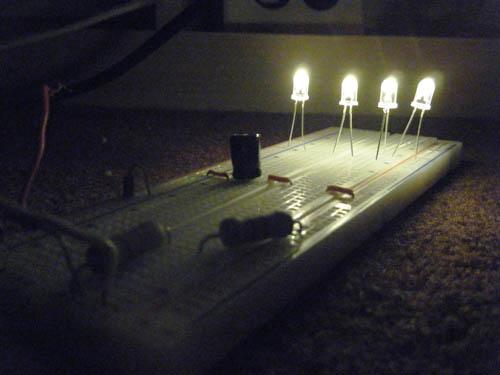 120 Volt 4 LED Light Circuit | Diagram wiring