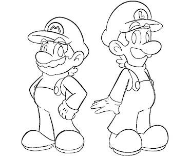 #2 Luigi Coloring Page