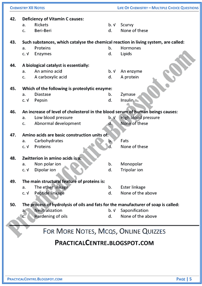 life-of-chemistry-mcqs-chemistry-12th