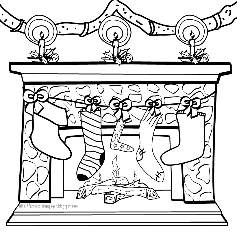 fireplaces coloring pages - photo#25