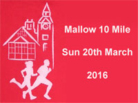 Mallow 10 mile road race in N.Cork...Sun 20th Mar 2016...Limit of 1750 entries