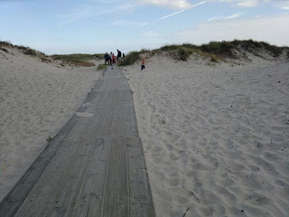 Sandhammaren: Heading for the Baltic Sea view (water), this beach is located as far south east of Sweden as you can be.