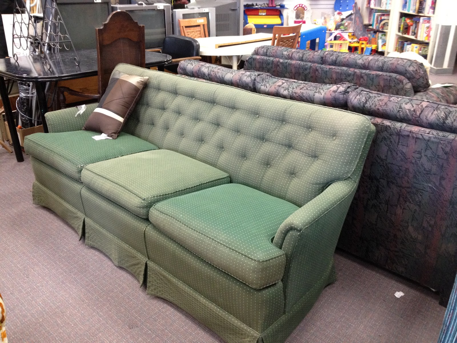 So, This Is The Story About A Chesterfield I Found At Catholic Charities  For $45. SOLD. I Brought It Home And Began My First Re Upholstery Job.