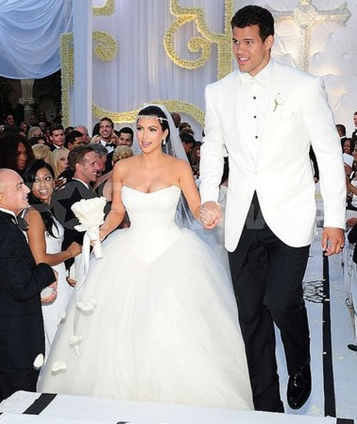 Celebrity Modeling Kim Kardashian Wedding Dresses Album Pics