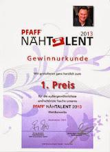 Pfaff Nähtalent 2013