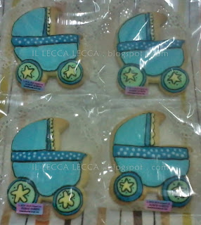 Fancy cookies baby stroller star