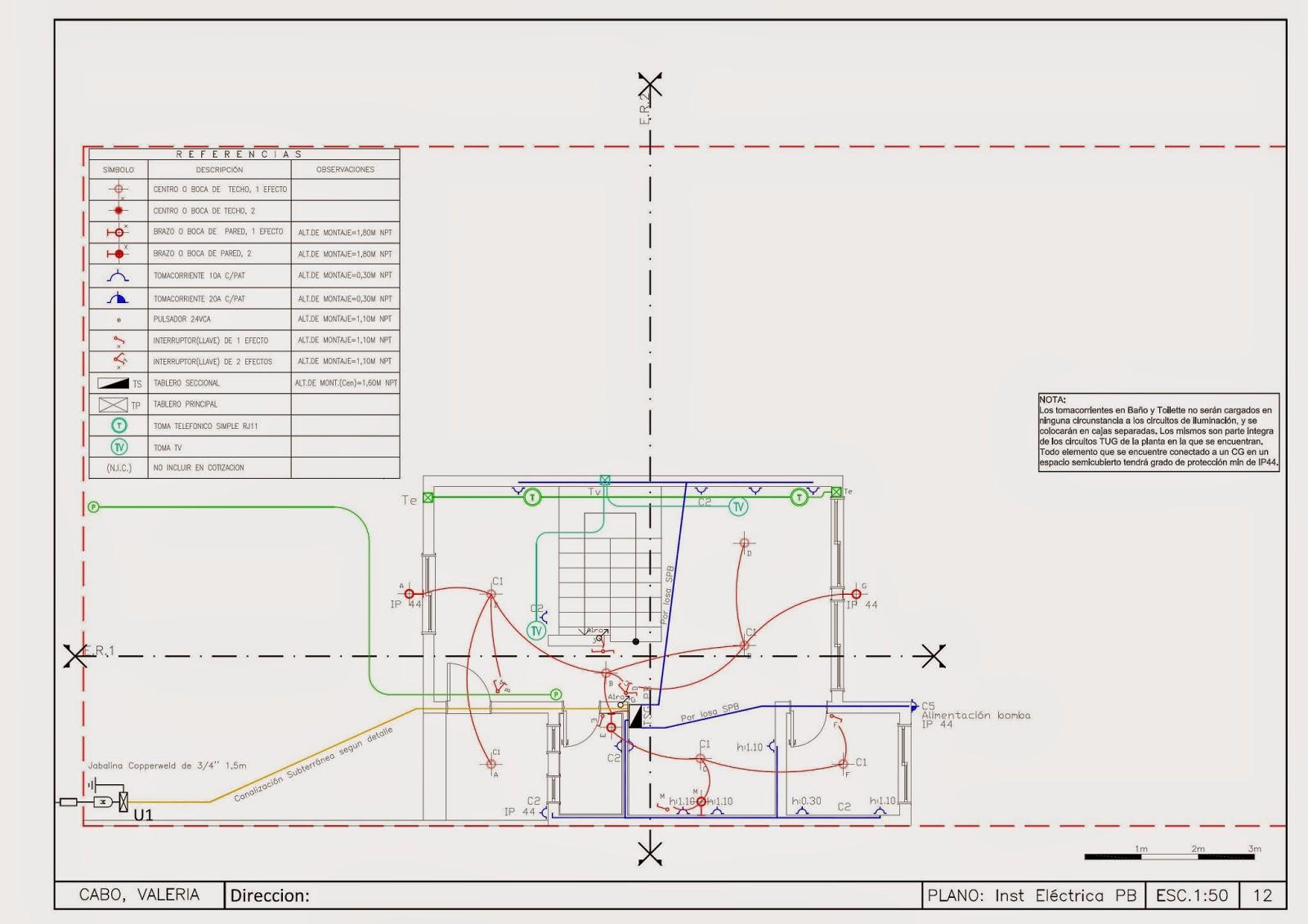 Detalles constructivos cad plano de replanteo instalaci n for Plano instalacion electrica