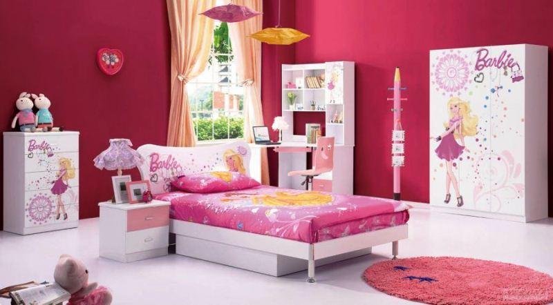 contoh desain kamar tidur anak perempuan cantik tema