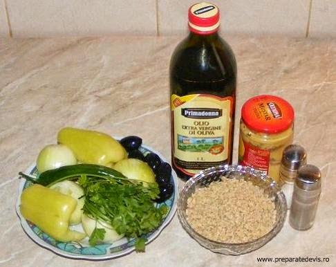 ingrediente pate de soia cu ardei si masline, retete cu soia, retete cu masline, retete cu ardei, preparate din soia, preparate din masline, preparate din ardei, retete culinare de mancare de poast,