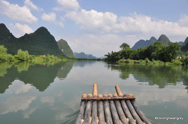 Bamboo raft, The Yulong River,Yangshou, China
