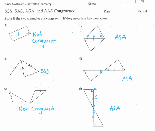 Triangle Congruence Worksheet | Space | Mathematical Analysis