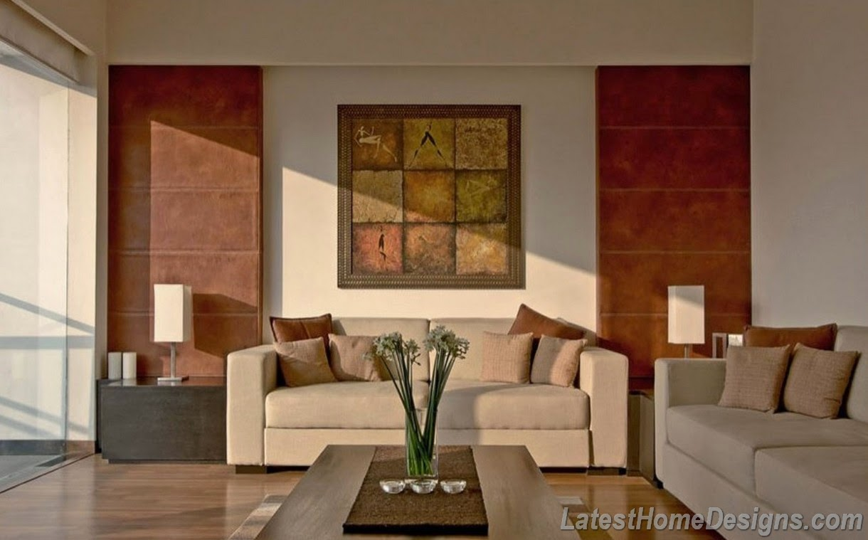 Living room sofa design and wall tiles and wall paint decoration