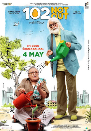 Poster Of Hindi Movie 102 Not Out 2018 Full HD Movie Free Download 720P Watch Online