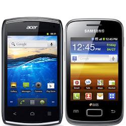 bagusan mana Acer Liquid Z110 vs Samsung Galaxy Y Duos, dual sim android murah 1 juta, android keren sejutaan