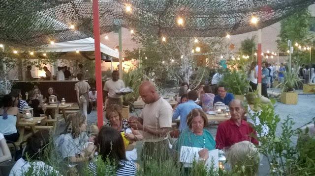 Terraza El Cuartel de Conde Duque_zona restaurante