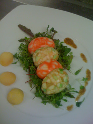 easter egg salad with micro herbs and pomegranate dressing easter time ...