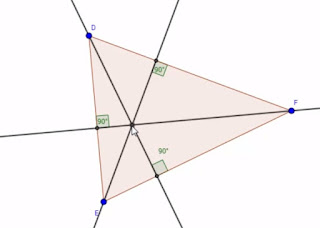 تعريف وانشاء ارتفاعات ومركز تعامد مثلث مع تذكير بالخاصيات