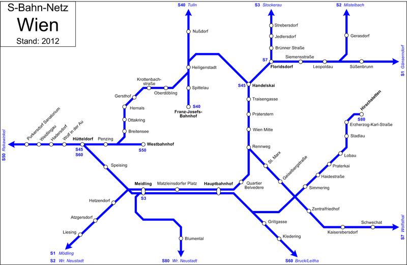 Схема городской железной