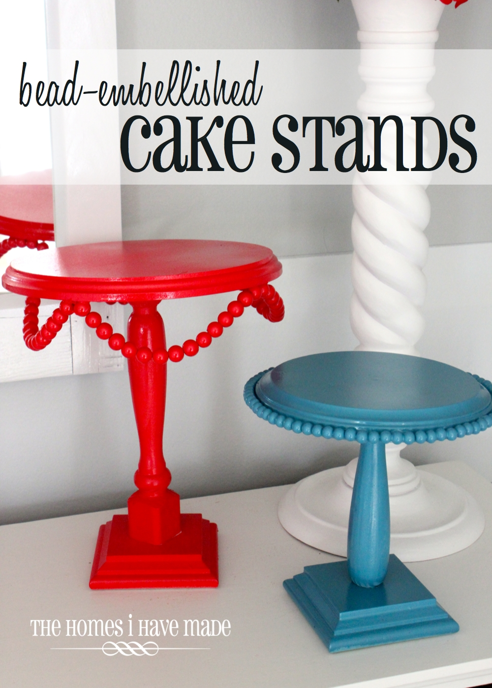 bead embellished cake stands the homes i have made. Black Bedroom Furniture Sets. Home Design Ideas