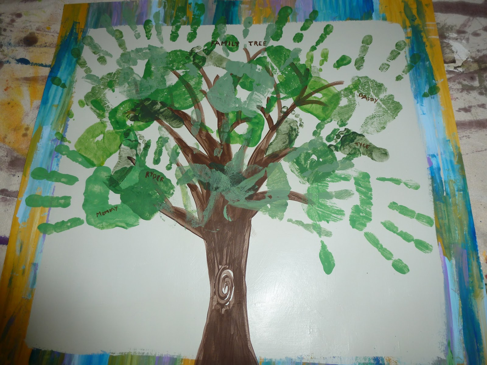 This And That Kids Diy And Good Times Family Tree Project