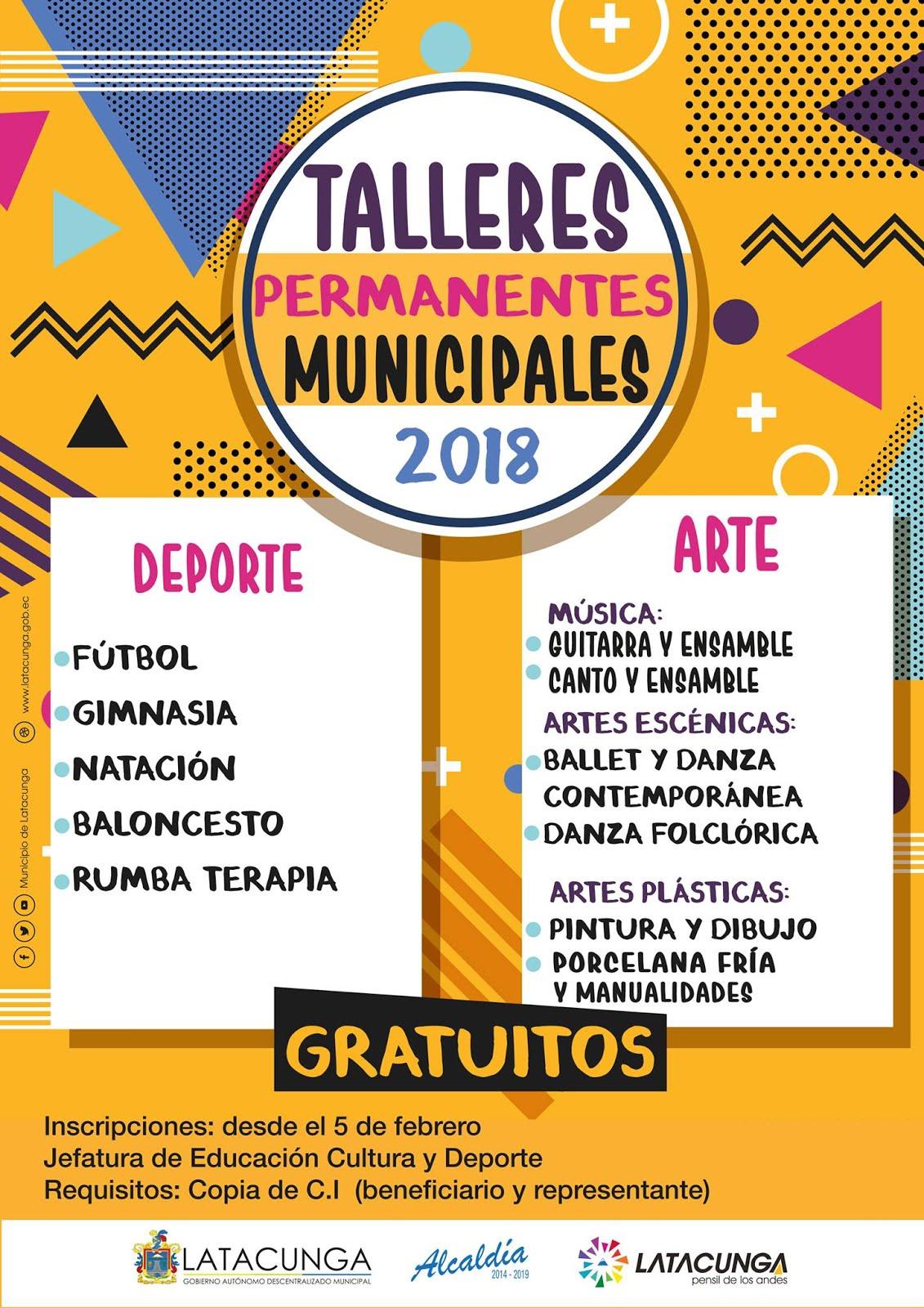 Talleres Permanentes Municipales 2018