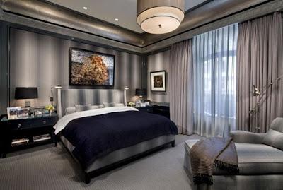 dormitorio decorado para hombre
