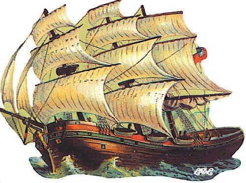 Barcos e veleiros para decoupage