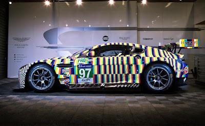 Aston Martin Vantage GTE Tobias Rehberger Le Mans Art Car 2015 #97 Side