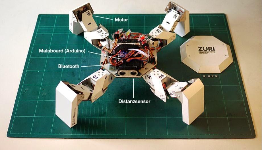 Tecnoneo zuri robot modular de papel que camina como un