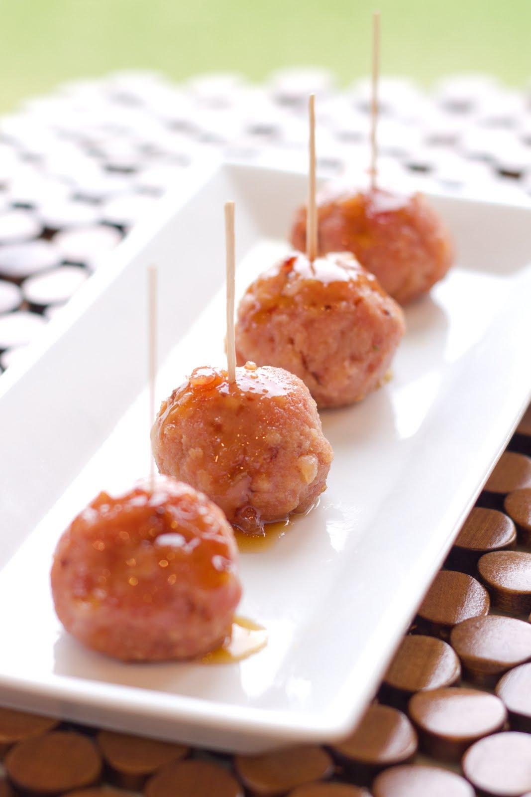 Pineapple & Brown Sugar Glazed Ham Balls