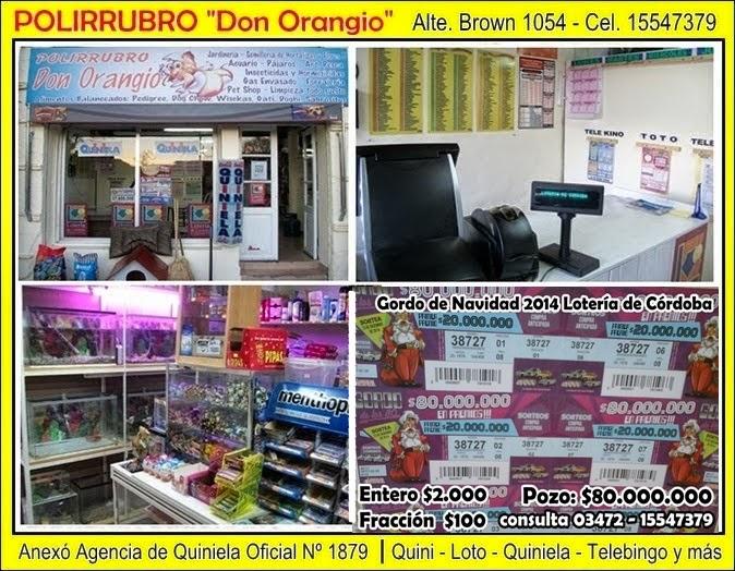 "ESPACIO PUBLICITARIO: POLIRRUBRO ""DON ORANGIO"""