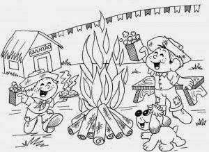 Desenhos para colorir de Festa Junina