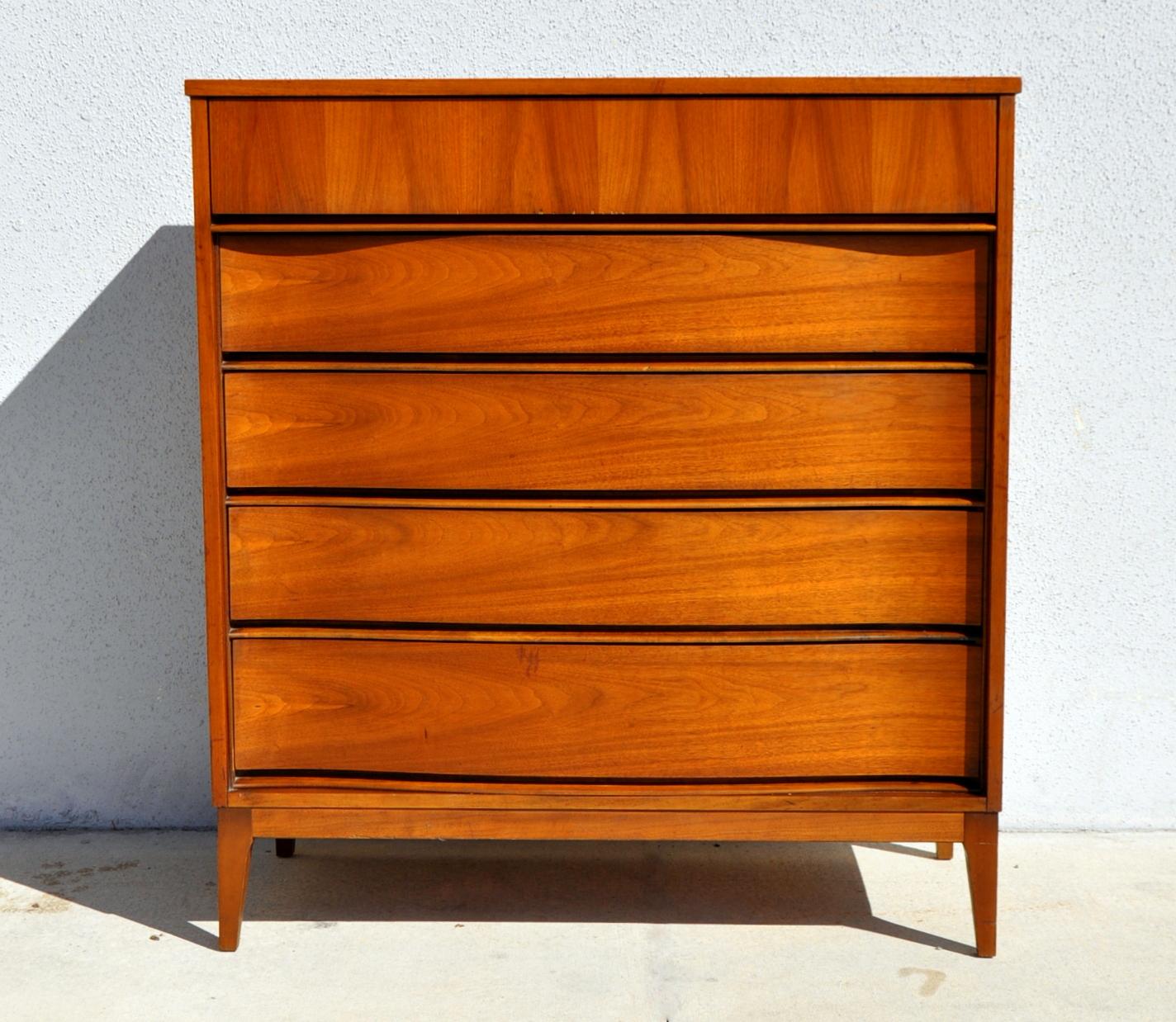 Mid Century Modern Highboy Dresser Chest Of Drawers