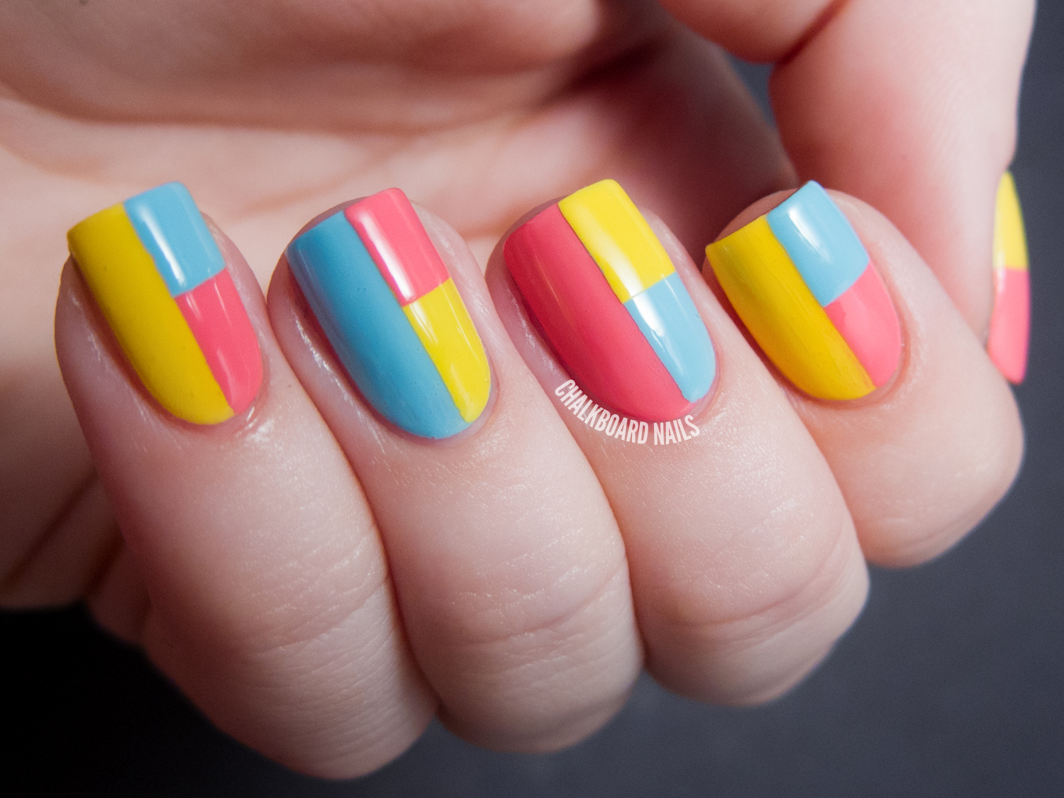 Sally Hansen Spring Color Block Tape Manicure Tutorial