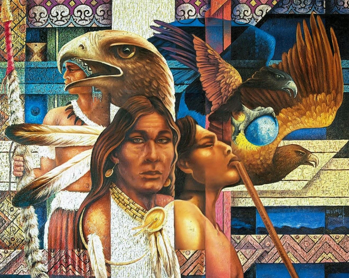 Polluelos indios americanos desnudos