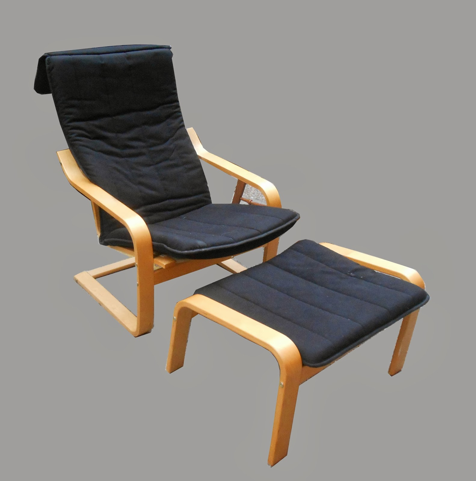 Ikea Poang Lounge Chair + Footstool  SOLD