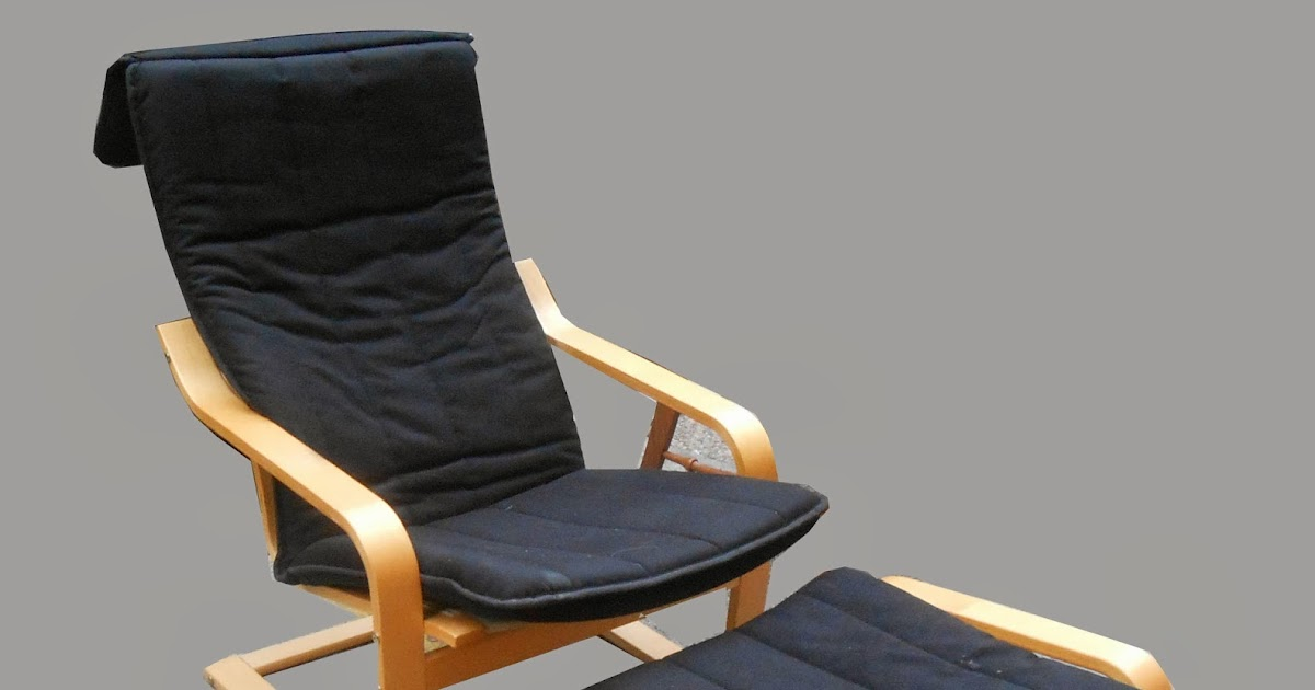 Uhuru furniture collectibles ikea poang lounge chair for Ikea chair with ottoman