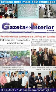 VEJA A EDIÇÃO Nº 45 do Jornal Gazeta do Interior