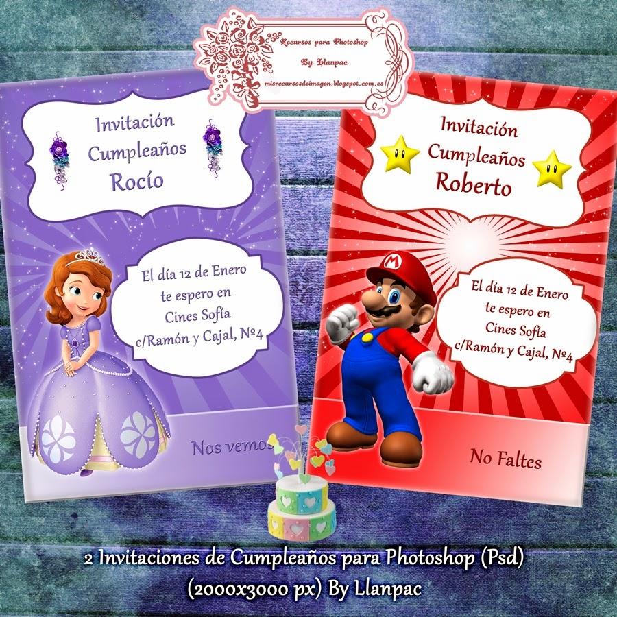 Recursos Photoshop Llanpac: 2 Tarjetas de cumpleaños para Photoshop ...