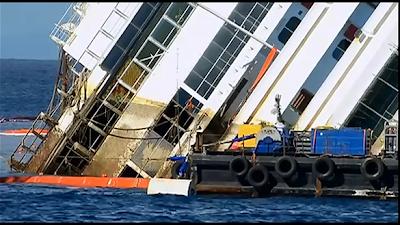 Costa Concordia Parbuckling Begins
