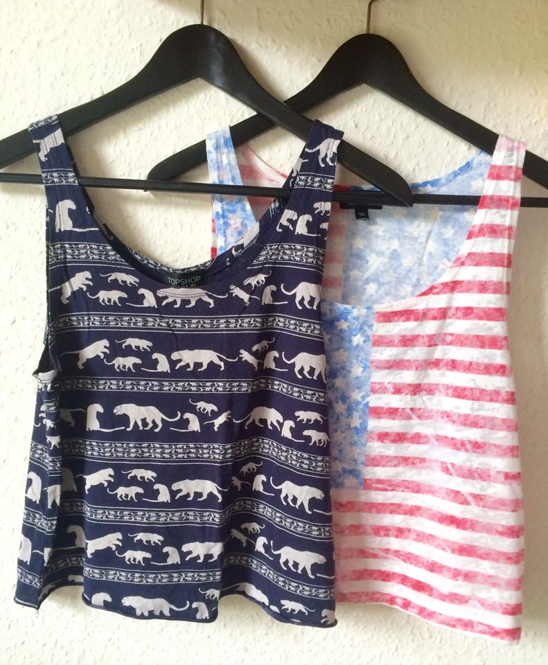topshop tank tops, animal, american flag