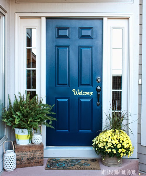 My Passion For Decor: My New Peaceful Front Door Using Modern Masters