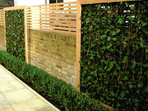 Jardines verticales muros verdes paredes vegetales for Jardines con madera y piedra
