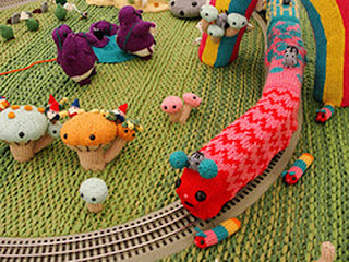 вязаные спицами игрушки