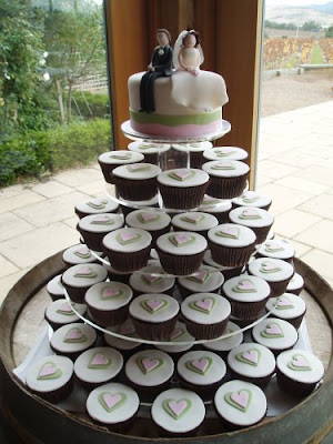 Delicious Wedding Cake Cupcakes Designs Ideas