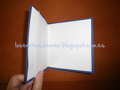 Interior de tarjeta de felicitación hecha a mano