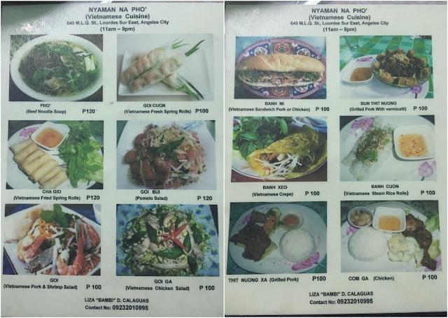 Nyaman Na Pho Vietnamese Restaurant in Angeles Pampanga