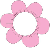 Modelo de flor para imprimir