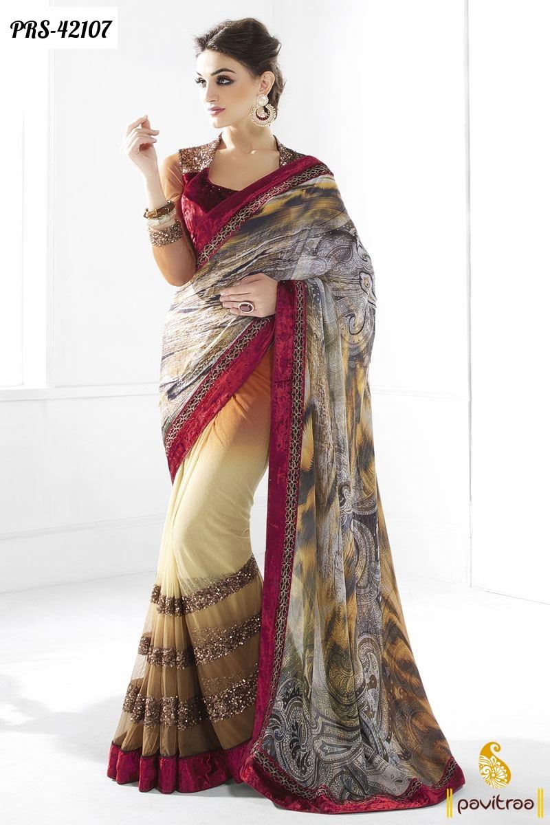 Indian designer sarees collection online women clothing for Designer com